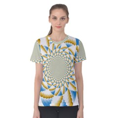 Tech Neon And Glow Backgrounds Psychedelic Art Psychedelic Art Women s Cotton Tee