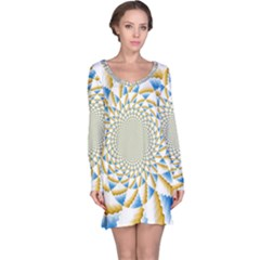 Tech Neon And Glow Backgrounds Psychedelic Art Psychedelic Art Long Sleeve Nightdress
