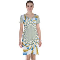 Tech Neon And Glow Backgrounds Psychedelic Art Psychedelic Art Short Sleeve Nightdress