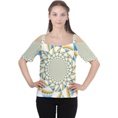 Tech Neon And Glow Backgrounds Psychedelic Art Psychedelic Art Women s Cutout Shoulder Tee