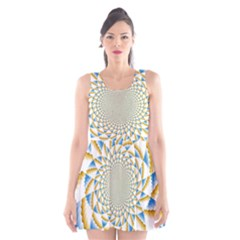Tech Neon And Glow Backgrounds Psychedelic Art Psychedelic Art Scoop Neck Skater Dress