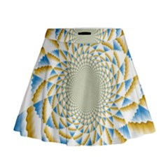 Tech Neon And Glow Backgrounds Psychedelic Art Psychedelic Art Mini Flare Skirt