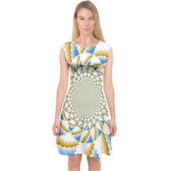 Tech Neon And Glow Backgrounds Psychedelic Art Psychedelic Art Capsleeve Midi Dress