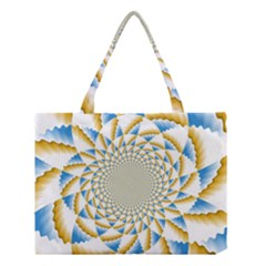 Tech Neon And Glow Backgrounds Psychedelic Art Psychedelic Art Medium Tote Bag