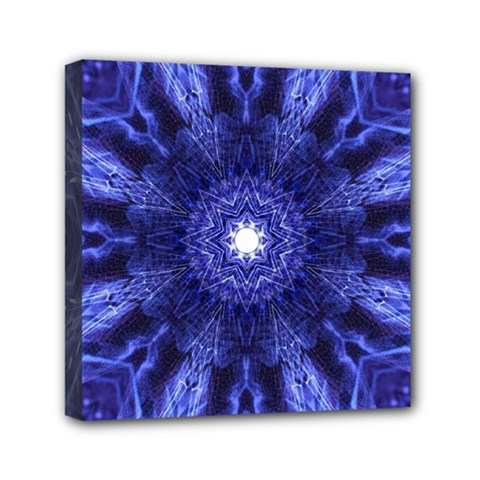 Tech Neon And Glow Backgrounds Psychedelic Art Mini Canvas 6  x 6