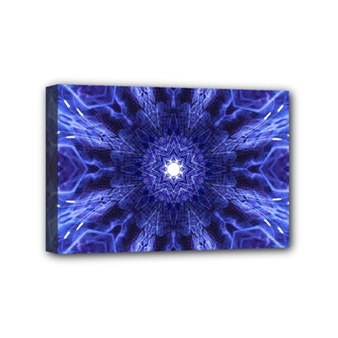 Tech Neon And Glow Backgrounds Psychedelic Art Mini Canvas 6  X 4
