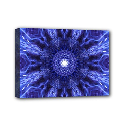 Tech Neon And Glow Backgrounds Psychedelic Art Mini Canvas 7  X 5