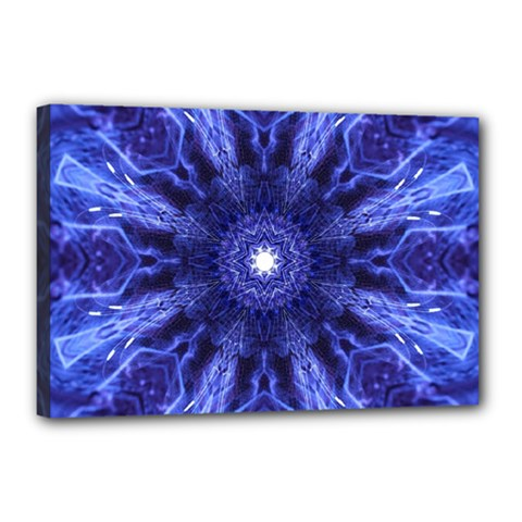 Tech Neon And Glow Backgrounds Psychedelic Art Canvas 18  X 12