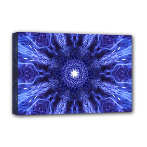 Tech Neon And Glow Backgrounds Psychedelic Art Deluxe Canvas 18  X 12
