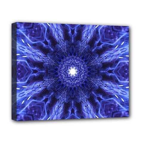 Tech Neon And Glow Backgrounds Psychedelic Art Deluxe Canvas 20  X 16