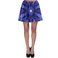 Tech Neon And Glow Backgrounds Psychedelic Art Skater Skirt