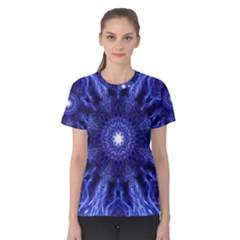 Tech Neon And Glow Backgrounds Psychedelic Art Women s Cotton Tee