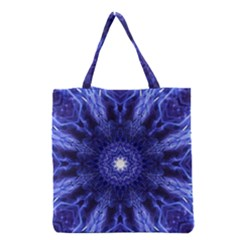 Tech Neon And Glow Backgrounds Psychedelic Art Grocery Tote Bag