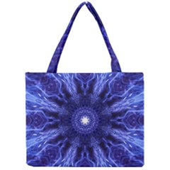 Tech Neon And Glow Backgrounds Psychedelic Art Mini Tote Bag