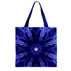 Tech Neon And Glow Backgrounds Psychedelic Art Zipper Grocery Tote Bag