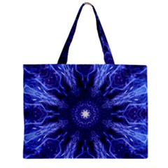 Tech Neon And Glow Backgrounds Psychedelic Art Zipper Mini Tote Bag