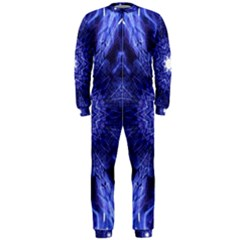 Tech Neon And Glow Backgrounds Psychedelic Art Onepiece Jumpsuit (men)