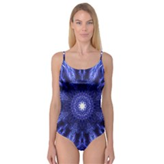 Tech Neon And Glow Backgrounds Psychedelic Art Camisole Leotard