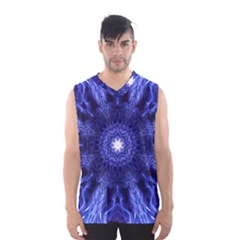Tech Neon And Glow Backgrounds Psychedelic Art Men s Basketball Tank Top