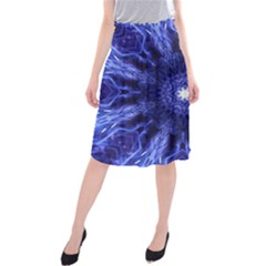 Tech Neon And Glow Backgrounds Psychedelic Art Midi Beach Skirt