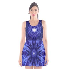 Tech Neon And Glow Backgrounds Psychedelic Art Scoop Neck Skater Dress