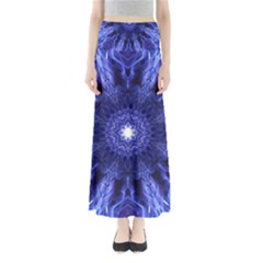 Tech Neon And Glow Backgrounds Psychedelic Art Maxi Skirts