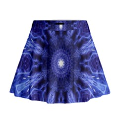 Tech Neon And Glow Backgrounds Psychedelic Art Mini Flare Skirt