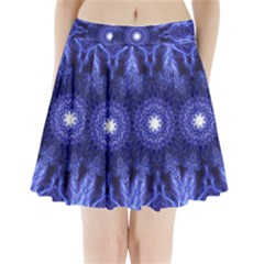 Tech Neon And Glow Backgrounds Psychedelic Art Pleated Mini Skirt