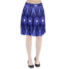 Tech Neon And Glow Backgrounds Psychedelic Art Pleated Skirt