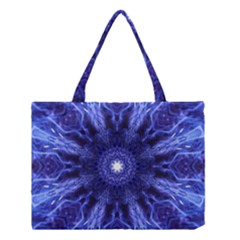 Tech Neon And Glow Backgrounds Psychedelic Art Medium Tote Bag