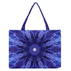 Tech Neon And Glow Backgrounds Psychedelic Art Medium Zipper Tote Bag