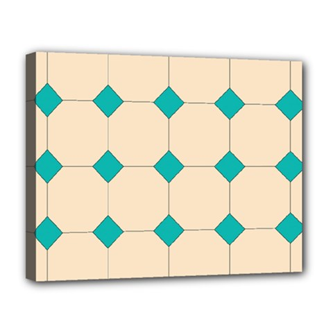 Tile Pattern Wallpaper Background Canvas 14  x 11