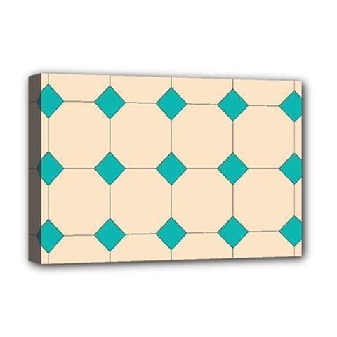 Tile Pattern Wallpaper Background Deluxe Canvas 18  X 12
