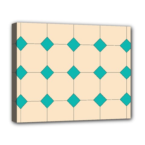 Tile Pattern Wallpaper Background Deluxe Canvas 20  X 16