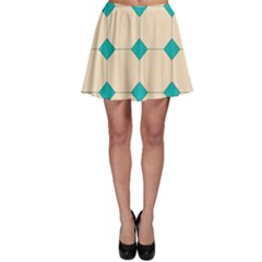 Tile Pattern Wallpaper Background Skater Skirt