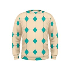 Tile Pattern Wallpaper Background Kids  Sweatshirt