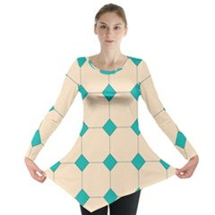 Tile Pattern Wallpaper Background Long Sleeve Tunic
