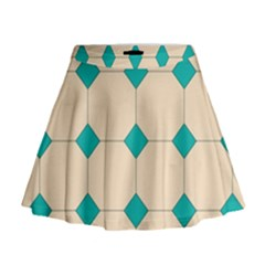 Tile Pattern Wallpaper Background Mini Flare Skirt