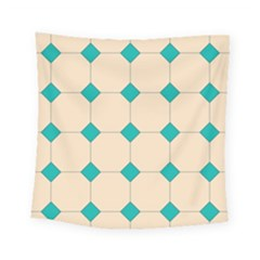 Tile Pattern Wallpaper Background Square Tapestry (small)