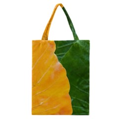 Wet Yellow And Green Leaves Abstract Pattern Classic Tote Bag