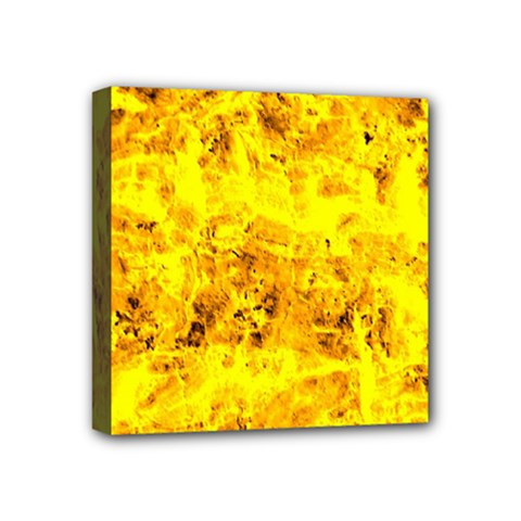 Yellow Abstract Background Mini Canvas 4  X 4