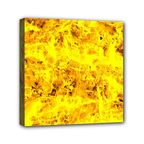 Yellow Abstract Background Mini Canvas 6  X 6