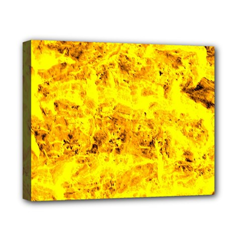 Yellow Abstract Background Canvas 10  X 8