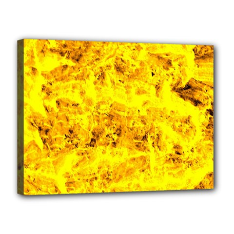 Yellow Abstract Background Canvas 16  X 12