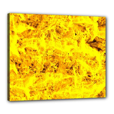Yellow Abstract Background Canvas 24  X 20