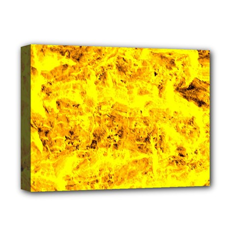 Yellow Abstract Background Deluxe Canvas 16  X 12