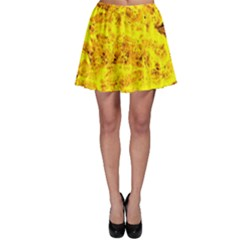 Yellow Abstract Background Skater Skirt