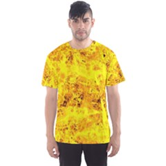 Yellow Abstract Background Men s Sport Mesh Tee