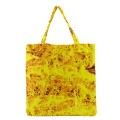 Yellow Abstract Background Grocery Tote Bag