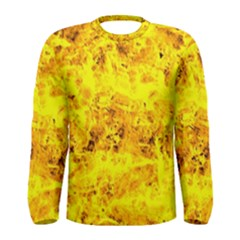Yellow Abstract Background Men s Long Sleeve Tee